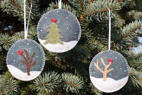 Molde para hacer esferas navideñas de fieltro08