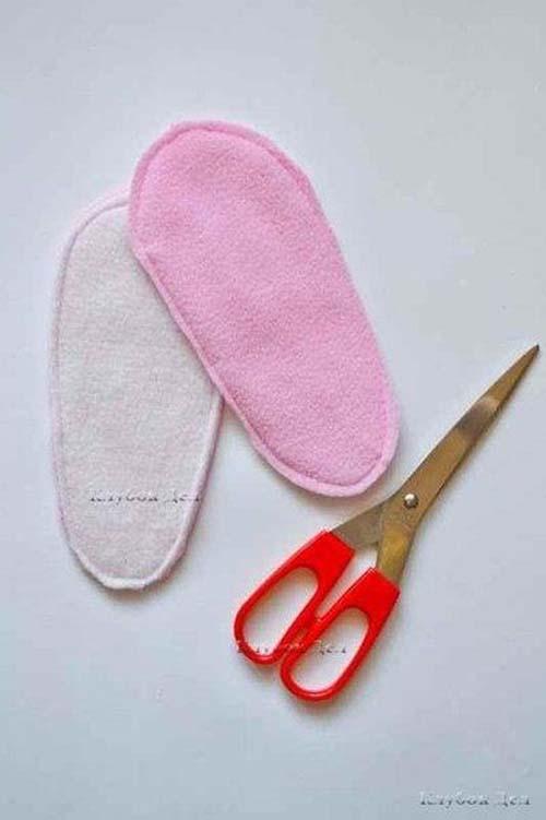 Molde para hacer unas botas de fieltro para niñas02