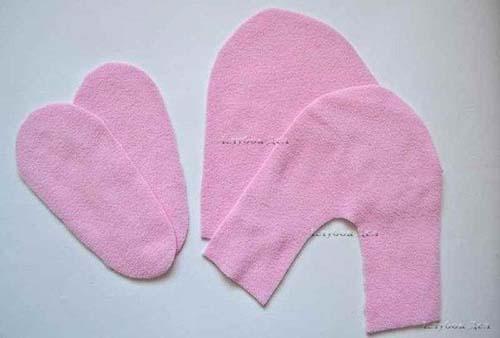 Molde para hacer unas botas de fieltro para niñas03