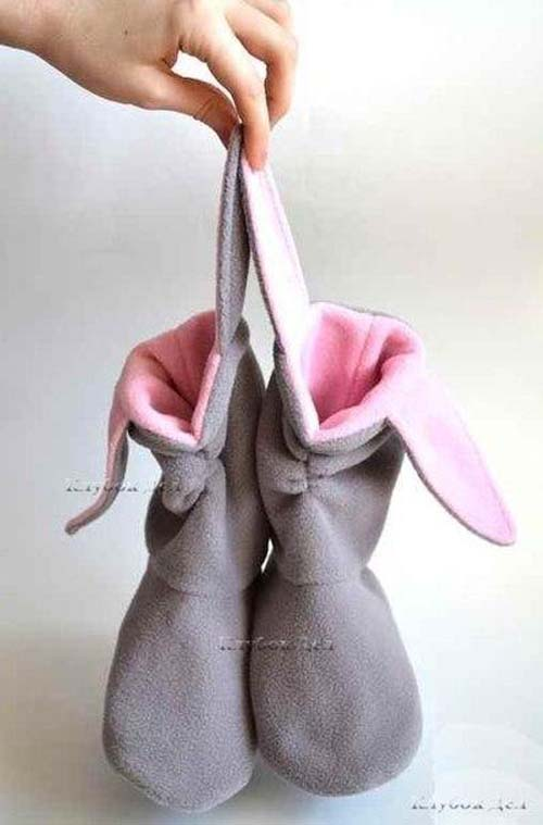 Molde para hacer unas botas de fieltro para niñas08