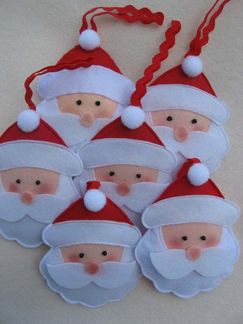 Moldes de mu ecos navide os en fieltro for Colgantes para arbol de navidad