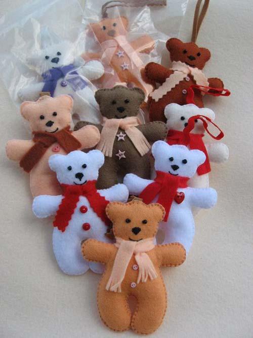 Moldes de mu ecos navide os en fieltro - Manualidades munecos de navidad ...