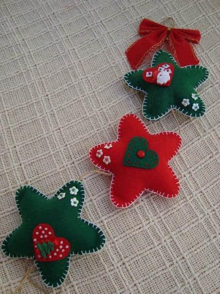 Moldes estrellas navideñas en fieltro01