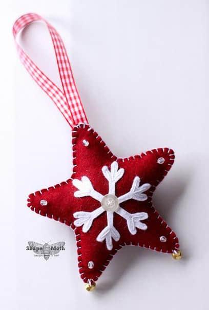 Moldes estrellas navideñas en fieltro03