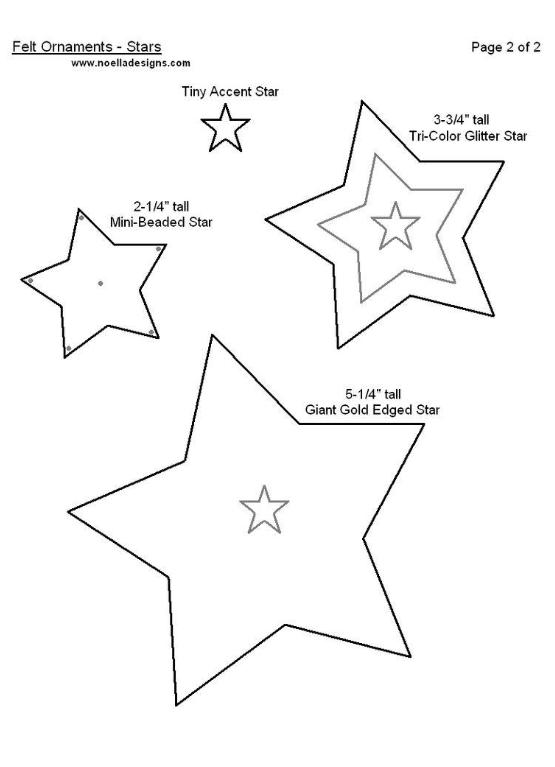 moldes estrellas navide u00f1as en fieltro