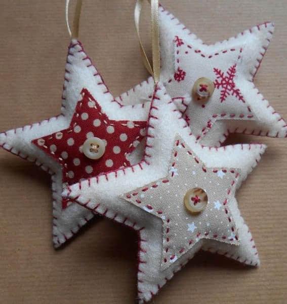moldes estrellas navideas en fieltro