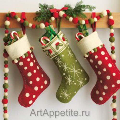Moldes gratis para hacer botas navideñas de fieltro04