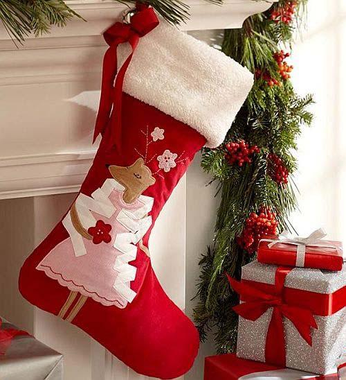 Moldes gratis para hacer botas navideñas de fieltro05