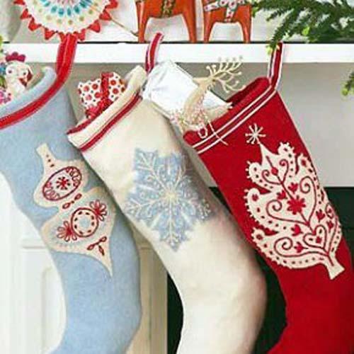 Moldes gratis para hacer botas navideñas de fieltro08