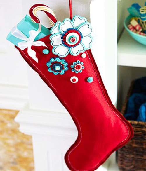 Moldes gratis para hacer botas navideñas de fieltro09