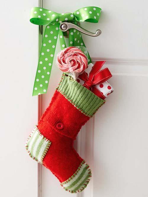 Moldes gratis para hacer botas navideñas de fieltro10