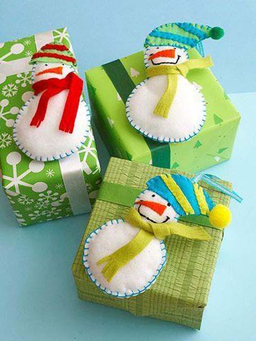 Moldes muñecos de nieve con fieltro para navidad02