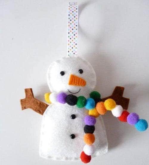 Moldes muñecos de nieve con fieltro para navidad03
