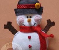 Moldes para hacer colgantes navideños con fieltro
