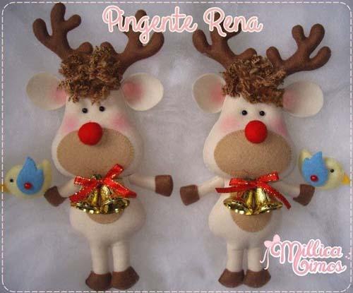 Moldes para hacer colgantes navideños con fieltro06