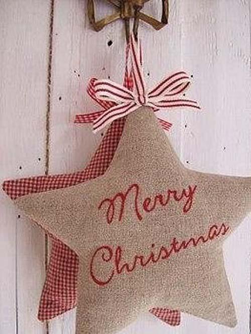 Moldes para hacer estrellas navideñas de tela gratis01