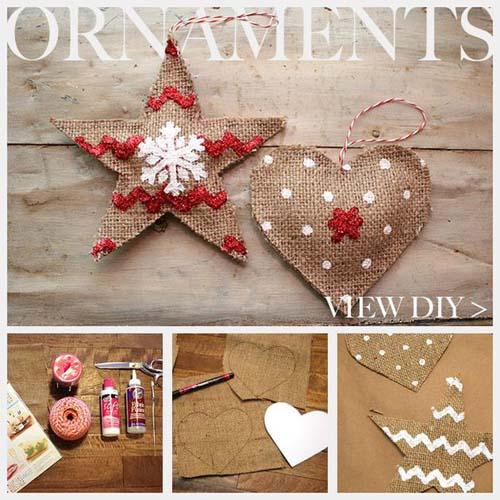Moldes para hacer estrellas navideñas de tela gratis02