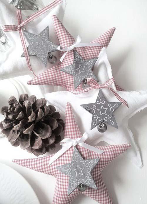 Moldes para hacer estrellas navideñas de tela gratis03