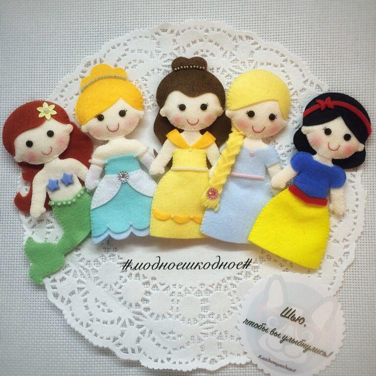Moldes para hacer princesas de fieltro o tela06