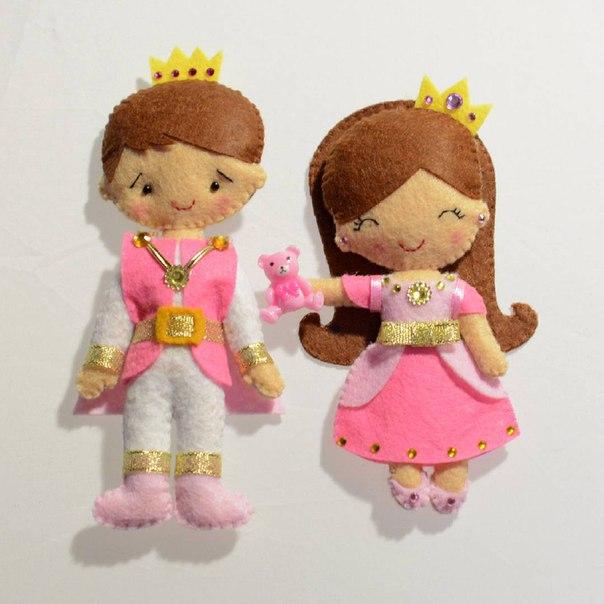 Moldes para hacer princesas de fieltro o tela07
