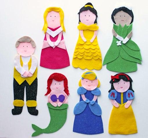 Moldes para hacer princesas de fieltro o tela09