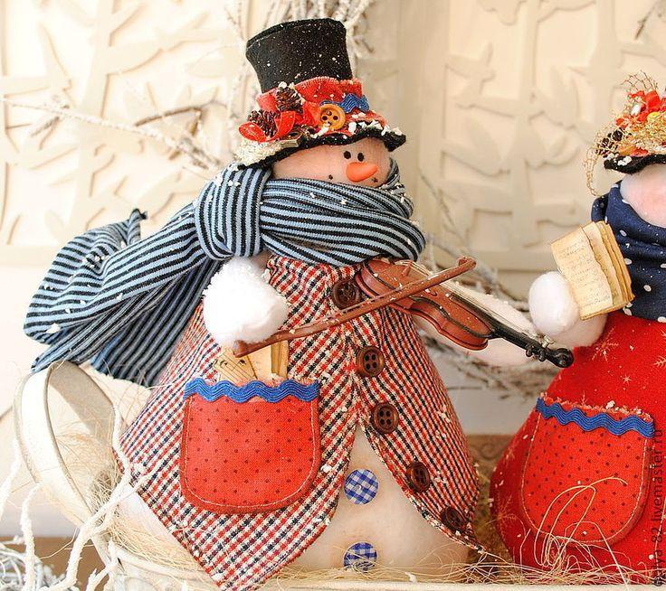 Muñecos de Nieve Grandes con Molde y Patrones gratis02