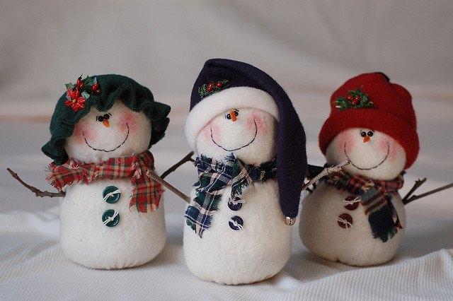 Muñecos de Nieve Grandes con Molde y Patrones gratis05