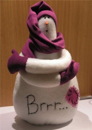 Muñecos de Nieve Grandes con Molde y Patrones gratis06