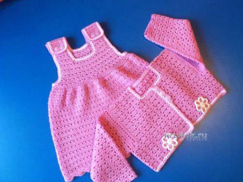 Patron de vestido tejido a crochet para bebe de 0 a 18 meses06