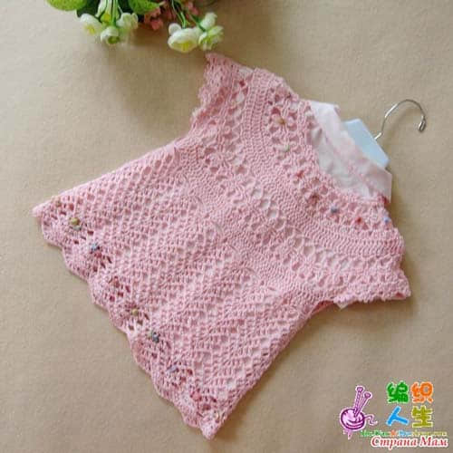 Patron gratis bolero tejido a crochet para niñas02