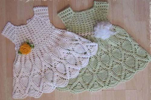 Patron gratis para tejer un vestido a crochet para niña02