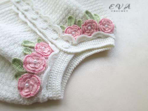 Patron para hacer un conjunto tejido a crochet para niña03