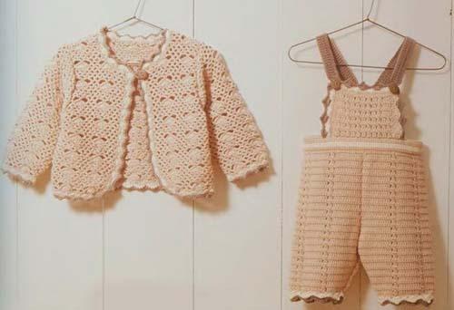 Patron para hacer un overol tejidos a crochet para bebe01