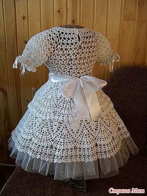 Patron para hacer un vestido de niña a crochet06