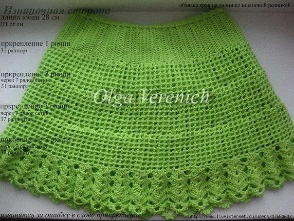 para hacer una falda tejida a crochet para niña