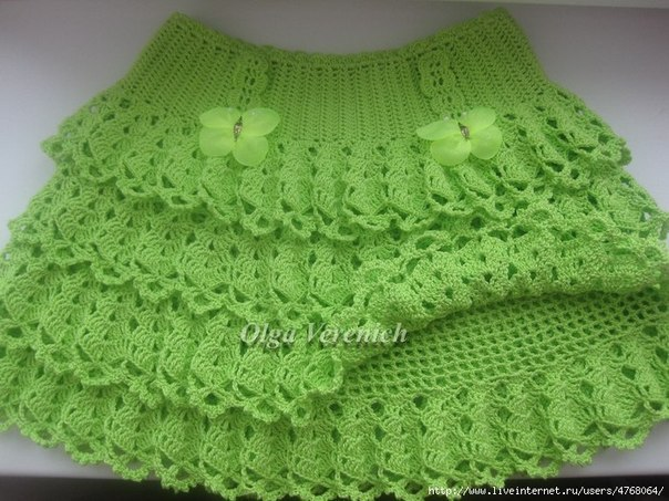 Patron para hacer una falda tejida a crochet para niña