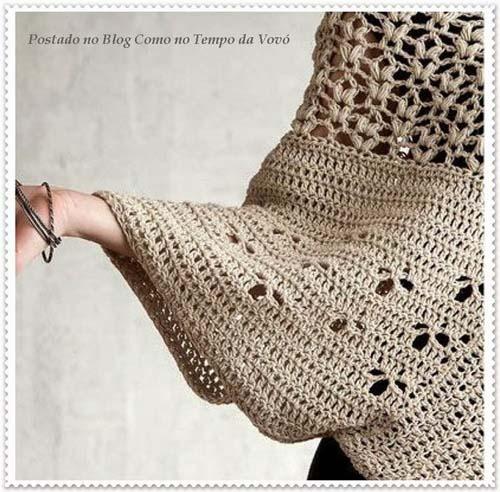 Patron poncho elegante a crochet para dama01