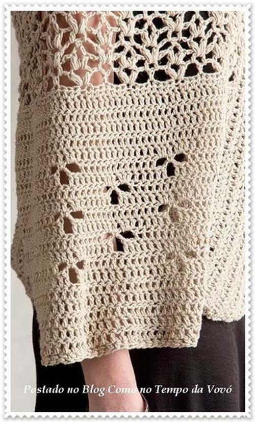 Patron poncho elegante a crochet para dama08