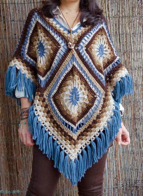 Patron ponchos juveniles tejidos a crochet06