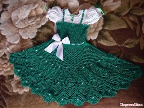 Patron Vestido Tejido A Crochet Para Niña
