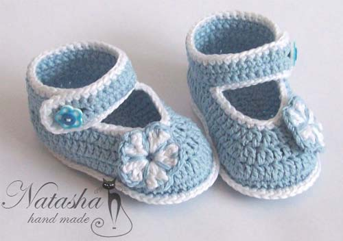 Patron zapatitos tejidos a crochet para bebe gratis01