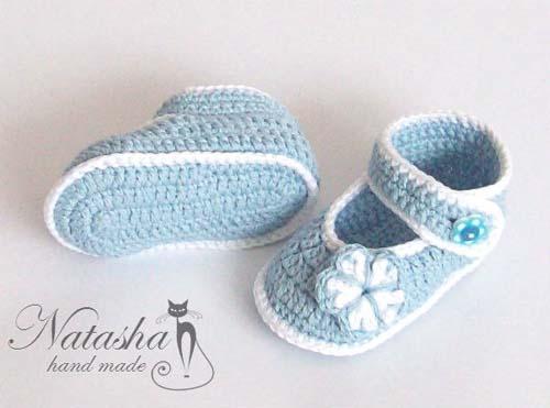 Patron zapatitos tejidos a crochet para bebe gratis06