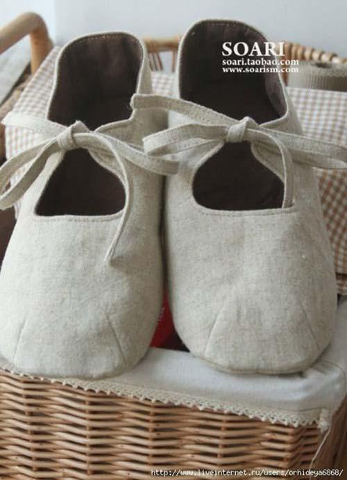 Patrones para hacer zapatitos de tela para bebe03
