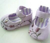 Patrones para hacer zapatitos de tela para bebe