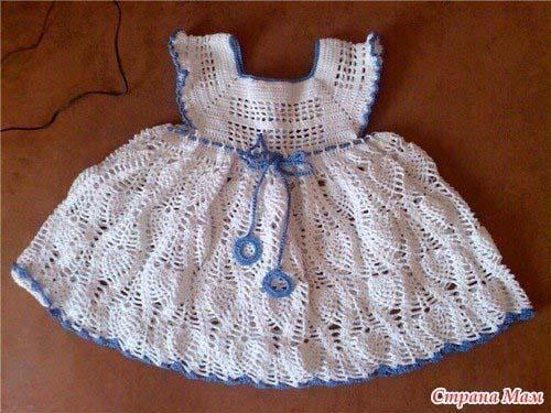 Patrones vestidos tejidos a crochet para niñas01