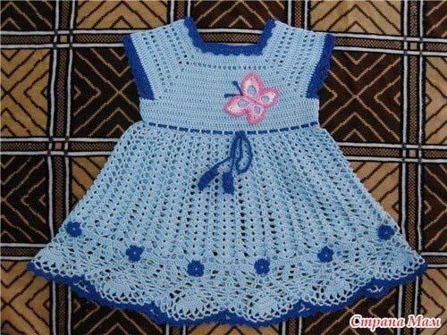 Patrones vestidos tejidos a crochet para niñas03