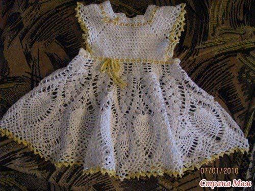 Patrones vestidos tejidos a crochet para niñas06