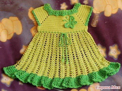 Patrones vestidos tejidos a crochet para niñas07