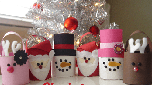 christmas-crafts-for-kids-recycle-old-toilet-paper-roll-tree-ornaments-decoration-ideas