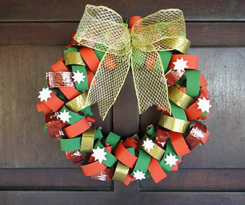 christmas-wreath-from-reused-toilet-paper-rolls-home-decorating-ideas